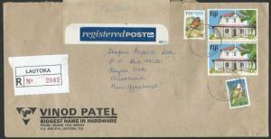 FIJI 1997 Registered cover Lautoka to New Zealand..........................10423