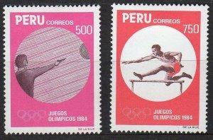 1984 Peru 1268-1269 1984 Olympic Games in Los Angeles