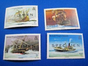BR. VIRGIN ISLANDS  -  SCOTT #572-575   SPECIMEN SET   MNH     (gg)