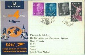 87374 - SPAIN - Postal History - FIRST FLIGHT:  BOAC London - Santiago 1960