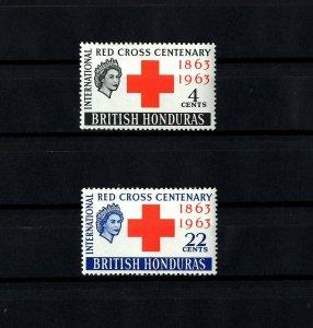 BRITISH HONDURAS - 1963 - QE II - RED CROSS CENTENARY - MINT - MNH - SET!