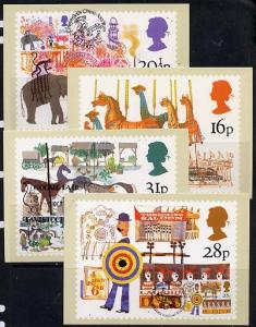 Great Britain 1983 British Fairs set of 4 PHQ cards with ...
