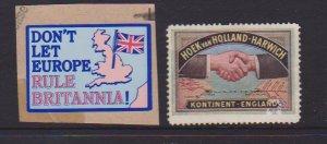 GREAT BRITAIN  CINDERELLA STAMPS (2).LOT#133