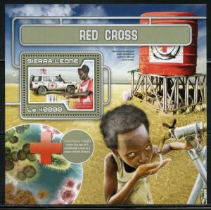 SIERRA LEONE 2017  RED CROSS SOUVENIR SHEET MINT NH