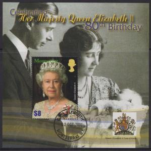 MONTSERRAT SGMS1336 2006 80th BIRTHDAY OF QUEEN ELIZABETH II FINE USED