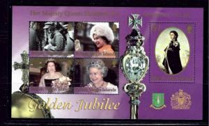 Virgin Is 971 MNH 2002 QEII Golden Jubilee S/S