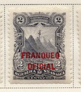 Nicaragua 1893 Early Issue Fine Mint Hinged 2c. Official Optd 323717