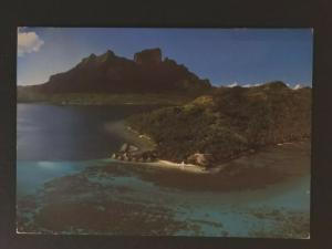 1986 Papeete Tahiti to Toyohashi Aichi Japan Hotel Bora Bora RPPC Postcard Cover