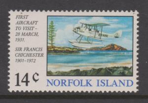Norfolk Island 1974 Gipsy Moth Sc#174 MLH