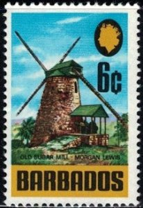 Old Sugar Mill, Morgan Lewis, Barbados stamp SC#333 MNH