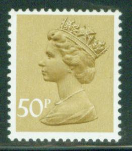 Great Britain Scott MH159 50p MNH** Machin stamp