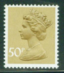 Great Britain Scott MH159 50p MNH** Machin stamp