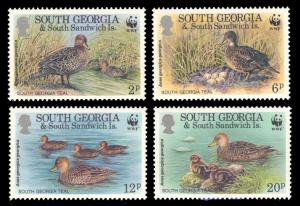 South Georgia 1992 Scott #162-165 Mint Never Hinged