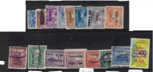 Nicaragua Lot of 16 Different Telegraph Stamps VFU (1dvl)