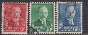 LITHUANIA  ^^^^1934 used set ( President ) $$ @ lar 1402lith