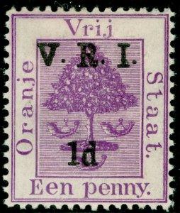 SOUTH AFRICA - Orange Free State SG124, 1d on 1d purple, M MINT.
