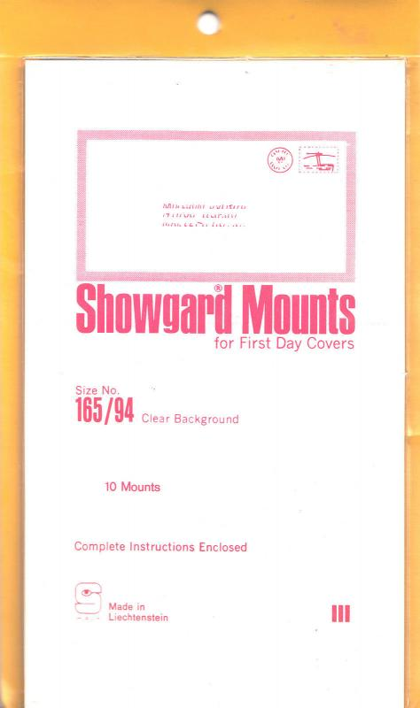 SHOWGARD CLEAR MOUNTS 165/94 (10) RETAIL PRICE $8.35