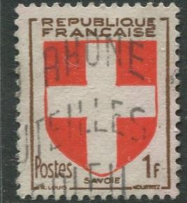 France - Scott 618 - General Definitive Issue -1949 - Used - 1fr Stamp