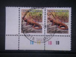 UGANDA, 2005, used 600sh, Reptiles, Scott new