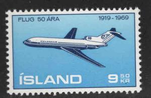 ICELAND Scott 410 MNH** 1969 Boeing 727 stamp