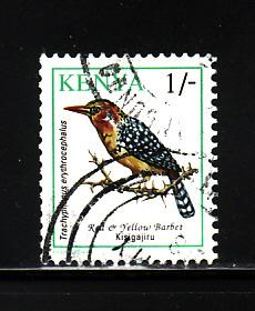 Kenya 597 U Birds, Red & Yellow Barbet (B)