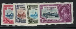 Solomon Islands 60-63  MH! King George V Silver Jubilee!
