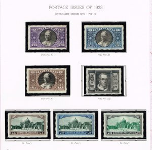 ITALY VATICAN CITY MH/OG STAMPS COLLECTION LOT #4 1933 ISSUES