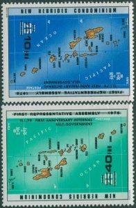 New Hebrides 1979 SG269-270 Internal Self-Government set MNH