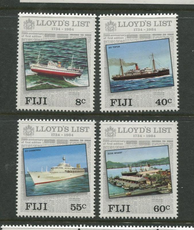 Fiji - Scott 509-512 - Lloyds List Issue -1984 -MNH - Set of 4 Stamps