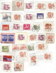 Switzerland – mix #1 of postmarks c1980