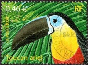 France 2937 - Used - 46c Toucan (2003) (cv $1.10)