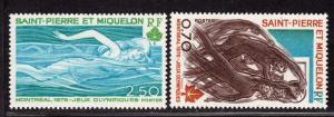 $St. Pierre+Miguelon Sc#448-49 M/NH, complete set, Cv. $17.50