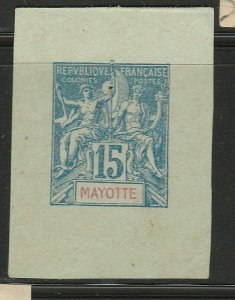 French Mayotte France Postal Stationery Cut Out A17P3F874