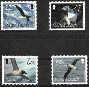 #1804 MALVINAS FALKLAND  ANTARCTICA 2009 FAUNA BIRDS YV 1038-41 MNH