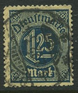 GERMANY. -Scott O11 - Officials -1920 -VFU  - Single 1.25m Stamp