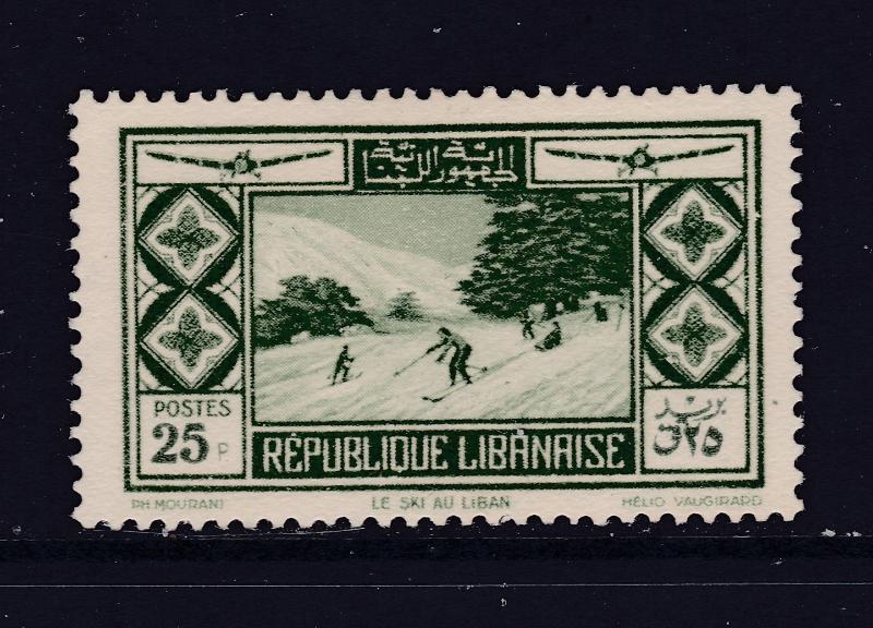 Lebanon the 25p Air stamp from 1936 MH