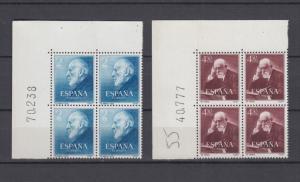 ESPAÑA 1952  Ed.1119/20** BLOQUE x4  Esquina Pliego Cajal y Ferran  MNH.