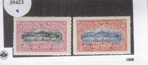 Australasian-New Hebrides Co., Local Post, 1p & 2p, MNH (39423)