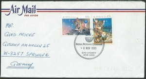 AUSTRALIA 1990 cover to Germany - nice franking - Sydney Pictorial pmk.....47317