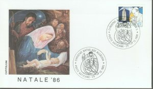 VATICAN POPE JOHN PAUL II CHRISTMAS 1986 FDC R202057