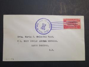 Spanish Indies 1928 West Indian Air Exp Cover 2-23-28 - Z3663