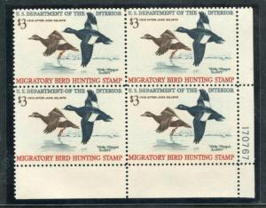 UNITED STATES RW36 MINT NH VF, PL. BLK 4, SCOOTERS