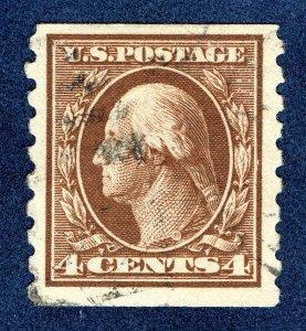 [0192] 1912 Scott#395 used cv:$65 Coil stamp