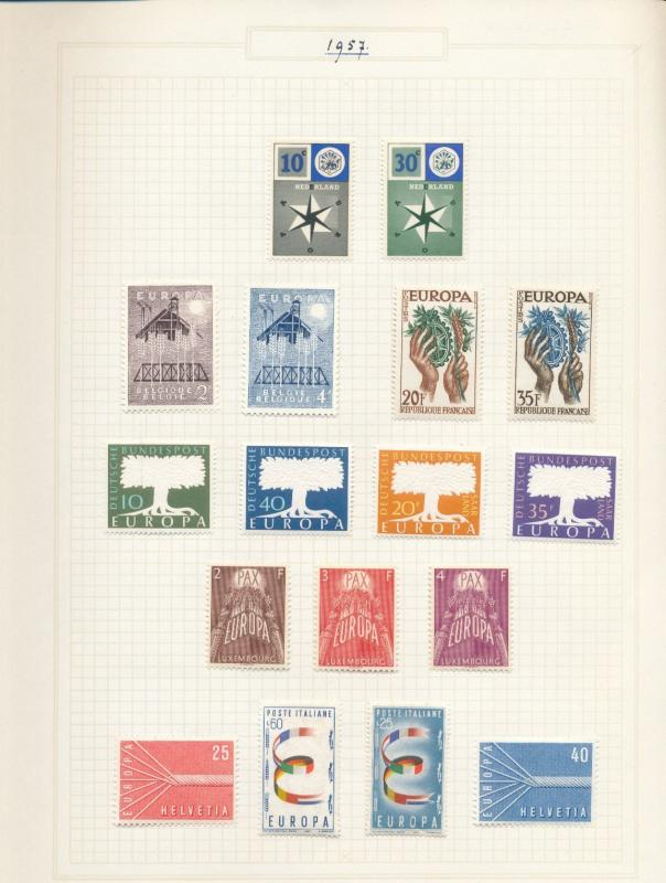 Swiss Luxembourg GB 1960 Europa MH 80+Items (Au13593