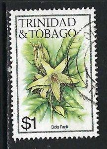 TRINIDAD & TOBAGO 402 VFU FLOWERS V186-1