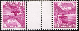 Switzerland Stamp tête-bêche gutter pair SELVAGE H/STAMPS MNH LOT #2