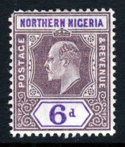 NORTHERN NIGERIA King Edward VII 1905 6d Purple&Violet Mult Crown CA SG 25 MINT