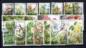 Kenya 1983 Flowers fine used set #257-271 (no 80c) WS16005