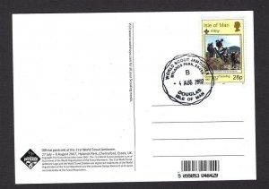 2007 UK Boy Scout World Jamboree Isle of Man postcard