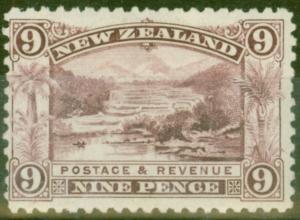 New Zealand 1899 9d Rosy-Purple SG267a Fine & Fresh Mtd Mint